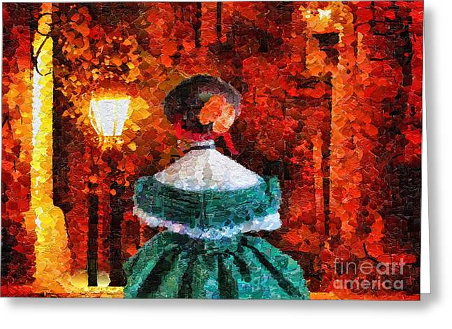 Tension Paintings Greeting Cards - Scent of a Woman Greeting Card by Mo T