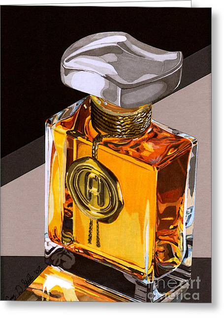 Glass Bottle Drawings Greeting Cards - Scent Of Heaven Greeting Card by Cory Still