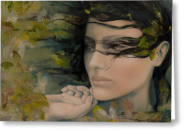 Live Art Greeting Cards - Scent Of October Greeting Card by Dorina  Costras