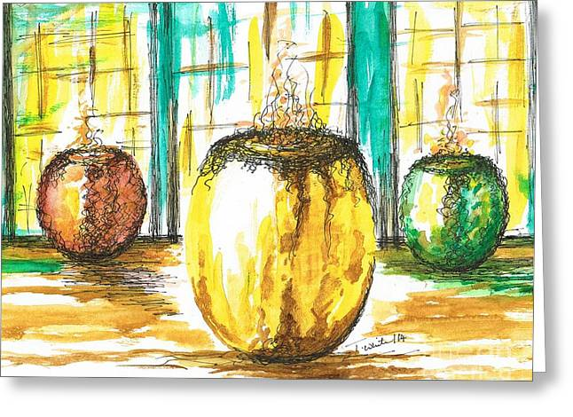Oil Burner Greeting Cards - Scented Holders Greeting Card by Teresa White