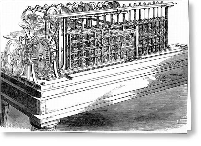 Scheutz's Calculating Machine Greeting Card by Universal History Archive/uig