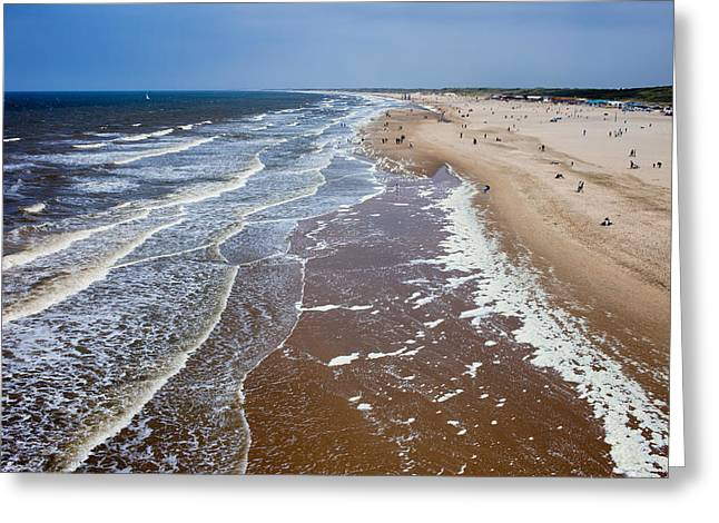 Scheveningen Greeting Cards - Scheveningen Beach in Den Haag Greeting Card by Artur Bogacki