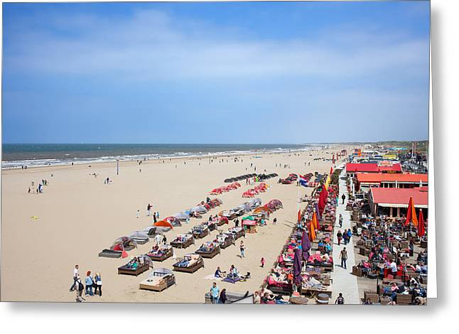North Sea Greeting Cards - Scheveningen Beach in The Hague Greeting Card by Artur Bogacki