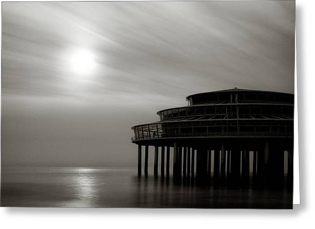 Scheveningen Greeting Cards - Pier Sunset Greeting Card by Dave Bowman