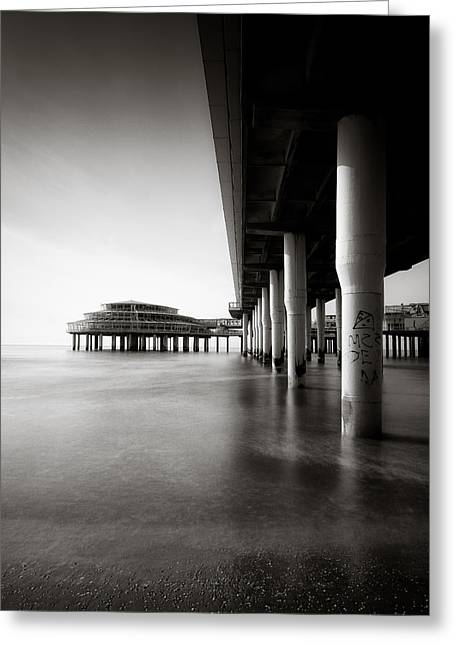 Scheveningen Greeting Cards - Scheveningen Pier 2 Greeting Card by Dave Bowman