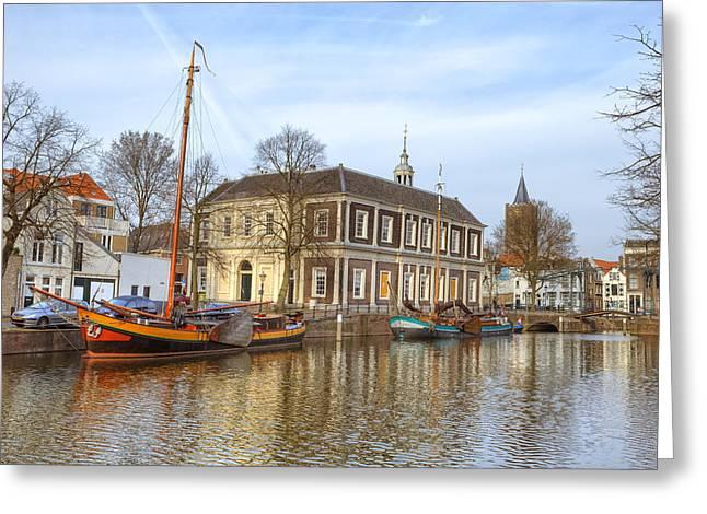 Draw Bridge Greeting Cards - Schiedam Greeting Card by Joana Kruse