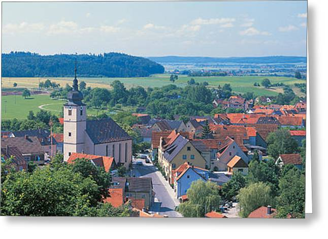 Field. Cloud Greeting Cards - Schillingsfurst Germany Greeting Card by Panoramic Images