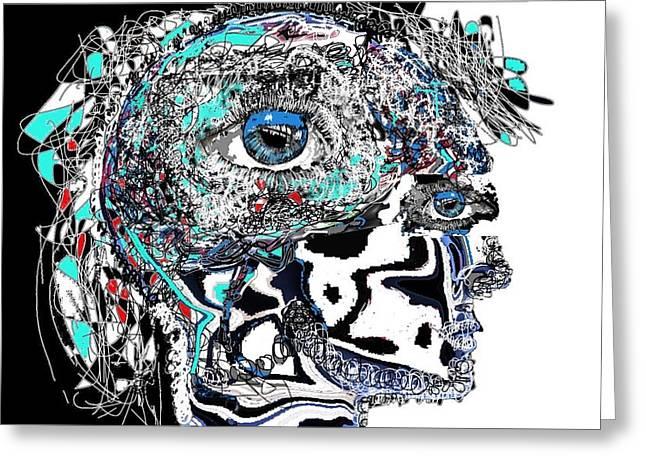 Alienate Greeting Cards - Schizophrenia Greeting Card by Ricardo Mester