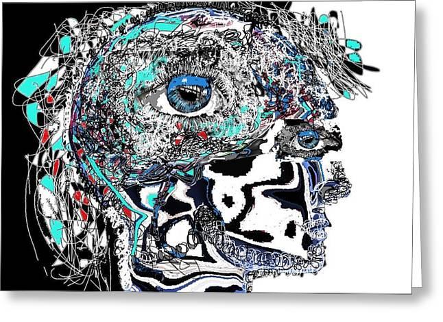 Alienating Greeting Cards - Schizophrenia Greeting Card by Ricardo Mester