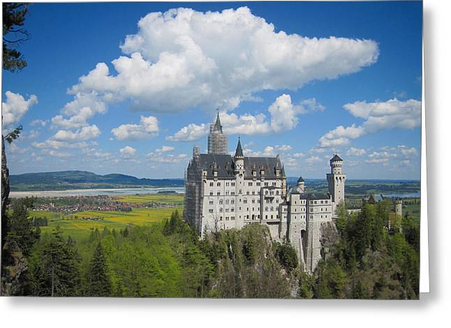 Geschichte Greeting Cards - Schloss Neuschwanstein Greeting Card by Devan M