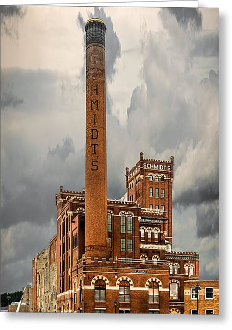One-of-a-kind Greeting Cards - Schmidt Brewery Greeting Card by Paul Freidlund