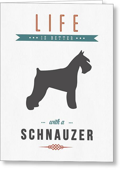 Schnauzer Art Greeting Cards - Schnauzer 01 Greeting Card by Aged Pixel