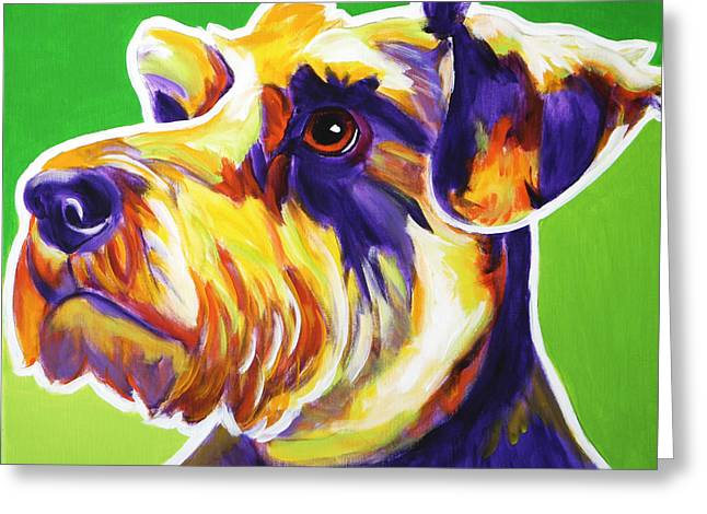 Miniature Schnauzer Greeting Cards - Schnauzer - Elroy Greeting Card by Alicia VanNoy Call