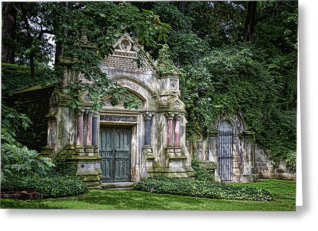 Sorrow Photographs Greeting Cards - Schofield Crypt Greeting Card by Tom Mc Nemar