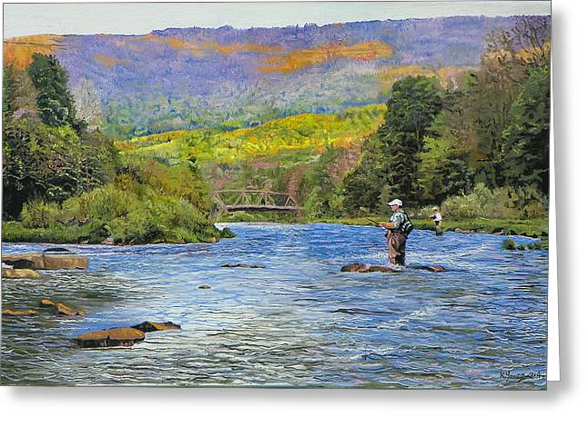 Fishing Creek Greeting Cards - Schoharie Creek Greeting Card by Kenneth Young
