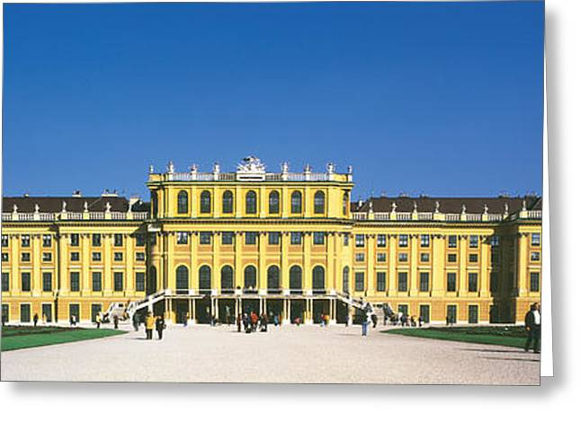 Royalty Photographs Greeting Cards - Schonbrunn Palace Vienna Austria Greeting Card by Panoramic Images