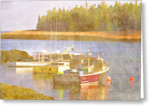 New England Ocean Digital Art Greeting Cards - Schoodic Peninsula Maine Greeting Card by Carol Leigh