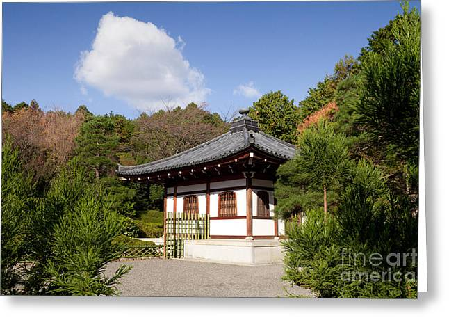 School Building Ryoan-ji Temple Kyoto Greeting Card by Colin and Linda McKie