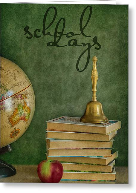 Back To Life Greeting Cards - School Days Greeting Card by Kathy Jennings