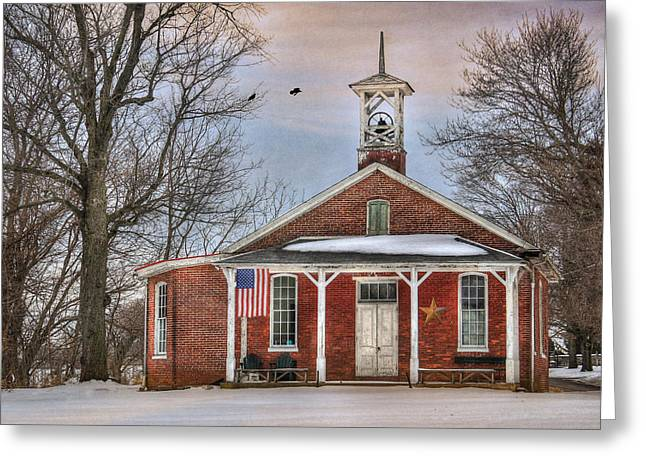 Old School House Greeting Cards - School Days Greeting Card by Lori Deiter
