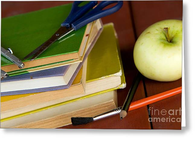 First-class Greeting Cards - School equipment Greeting Card by Michal Bednarek