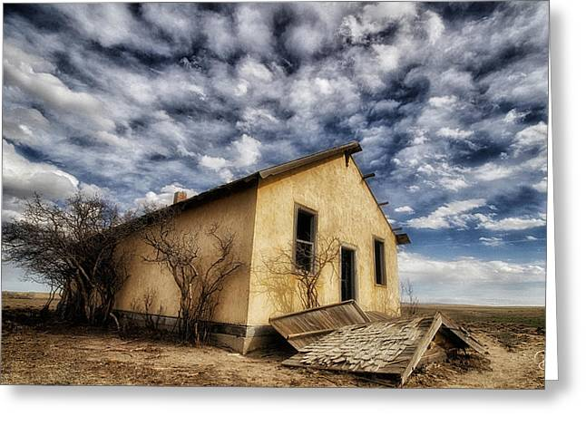 Abandoned School House. Greeting Cards - School House Greeting Card by Debi Boucher