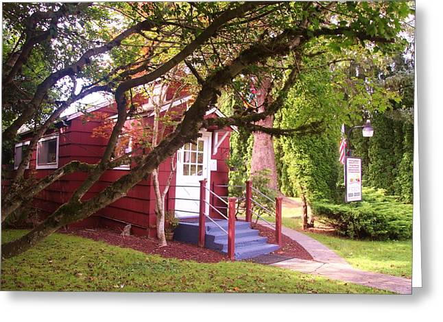 Red School House Greeting Cards - School house Greeting Card by Donald Torgerson