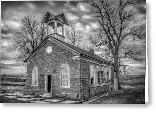 Brick Schools Photographs Greeting Cards - School House Greeting Card by Scott Norris