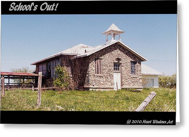 School is Out Greeting Card by Kathleen Luther
