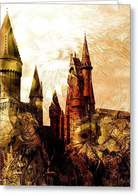 School Of Magic Greeting Card by Anastasiya Malakhova