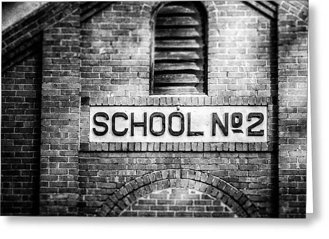 Schoolhouse No. 2 In Black And White Greeting Card by Lisa Russo