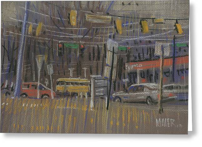 Intersection Greeting Cards - Schools Out Greeting Card by Donald Maier