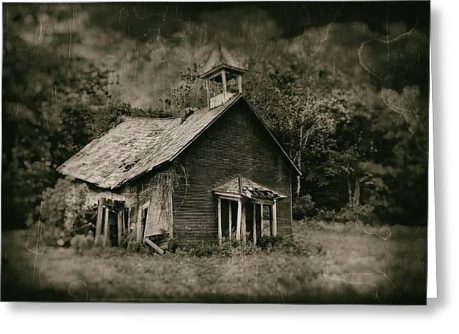 Dilapidated Photographs Greeting Cards - Schools Out Greeting Card by Tom Mc Nemar