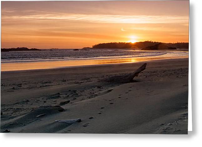 Schooner Greeting Cards - Schooner Cove Panorama Greeting Card by Allan Van Gasbeck
