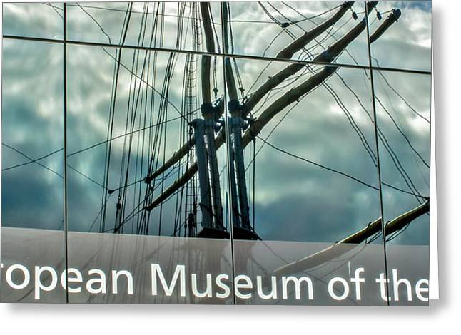 Charlotte Art Museums Greeting Cards - Schooner Glenlee at Riverside Museum Glasgow Greeting Card by Tylie Duff