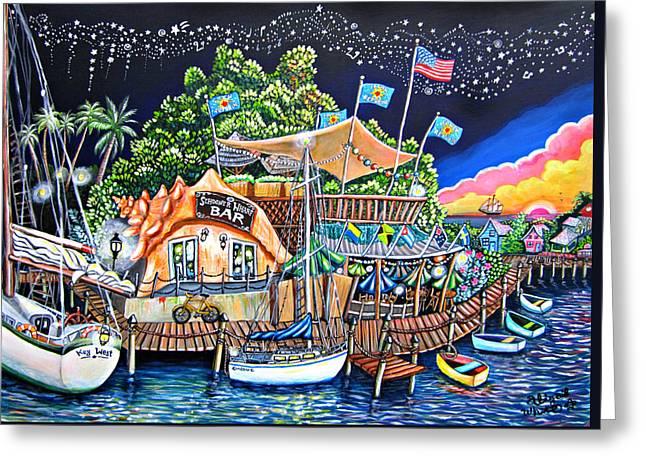 Schooner Wharf Bar Greeting Card by Abigail White