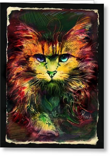 Tablets Greeting Cards - Schrodingers Cat Greeting Card by Anna Ewa Miarczynska