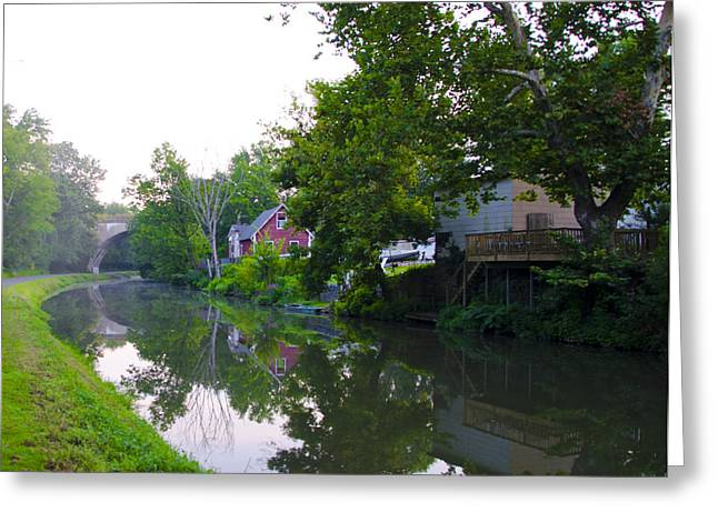 Schuylkill Digital Art Greeting Cards - Schuylkill Canal Mont Clare Greeting Card by Bill Cannon