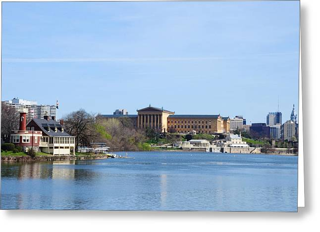 Schuylkill Digital Art Greeting Cards - Schuylkill River and the Philadelphia Art Museum Greeting Card by Bill Cannon