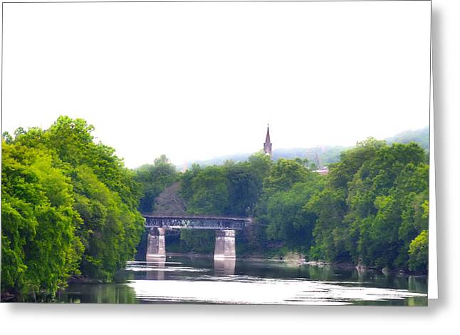Schuylkill Digital Art Greeting Cards - Schuylkill River at Manayunk Philadelphia Greeting Card by Bill Cannon