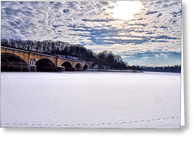 Schuylkill Digital Art Greeting Cards - Schuylkill River - Frozen Greeting Card by Bill Cannon