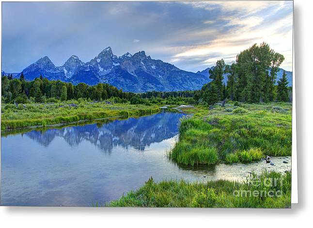 Nez Perce Greeting Cards - Schwabacher Landing - Grand Teton National Park Greeting Card by Gary Whitton