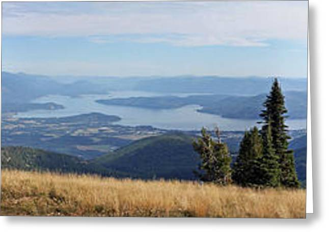 Schweitzer Greeting Cards - Schweitzer Mountain Panoramic Greeting Card by Ellen Tully