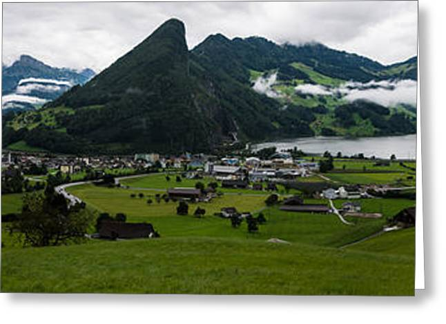 Swiss Photographs Greeting Cards - Schwyz Canton Panorama - Switzerland Greeting Card by Gary Whitton
