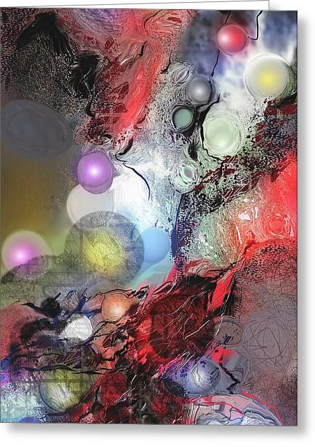 Abstract Digital Paintings Greeting Cards - Sci-Fi Greeting Card by Francoise Dugourd-Caput