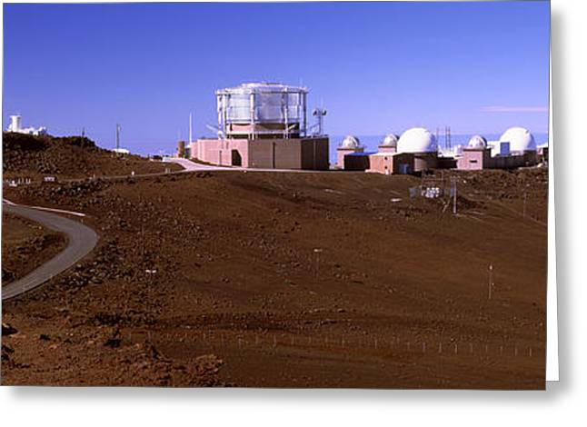 Observatory Greeting Cards - Science City Observatories, Haleakala Greeting Card by Panoramic Images