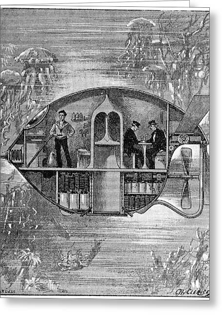 La Science Illustree Greeting Cards - Science fiction story, 19th century Greeting Card by Science Photo Library