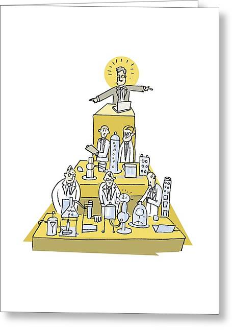 Hierarchy Greeting Cards - Science hierarchy, artwork Greeting Card by Science Photo Library