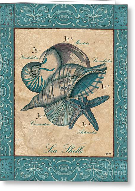 Shell Fish Greeting Cards - Scientific Drawing Greeting Card by Debbie DeWitt