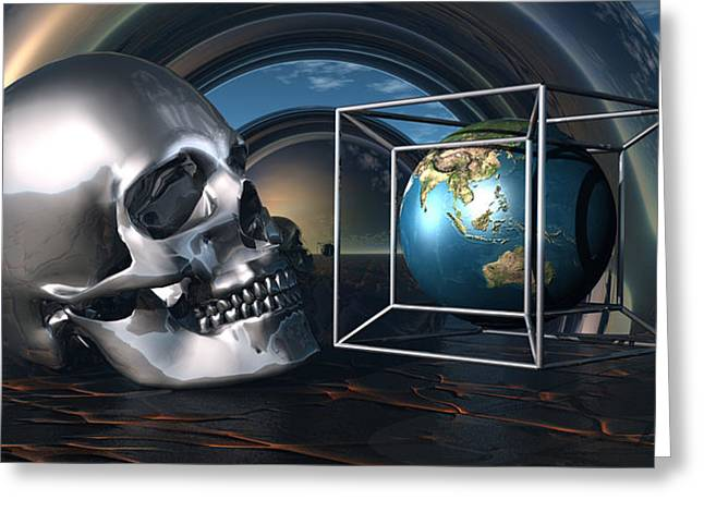 Inner Reality Greeting Cards - Scientists Believe We Are Facing Extinction Greeting Card by Jon Became the Anti-Christ